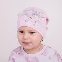 Детская вязаная шапка для девочки на весну - Артикул 0539