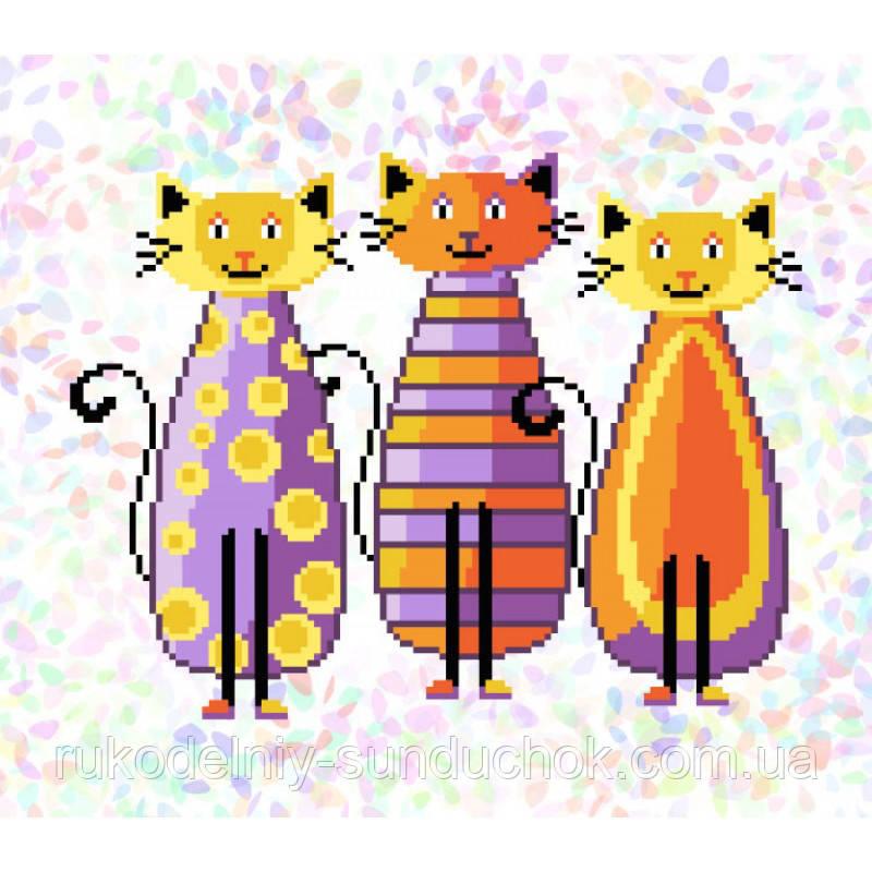 """Водорастворимый флизелин с рисунком """"Confetti"""" (K315 Модные коты)"""