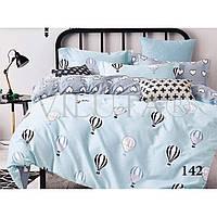 """Нежное постельное белье """"Путешествие на воздушном шаре"""" №142 для детской кроватки"""