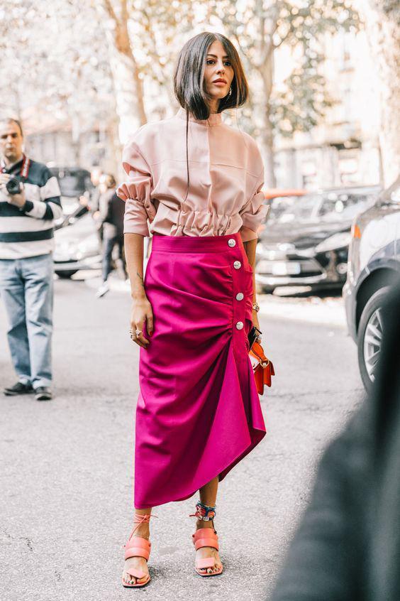 модная юбка с ассиметричным низок 2018
