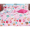"""Детский комплект постельного белья """"Сладости"""" № 188 розового цвета"""