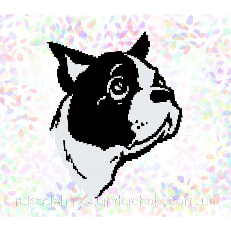 """Водорастворимый флизелин с рисунком """"Confetti"""" (K319 Бульдог)"""