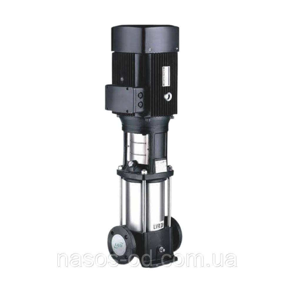 Насос центробежный многоступенчатый вертикальный Leo 380В 1.1кВт Hmax53м Qmax117л/мин (нерж)