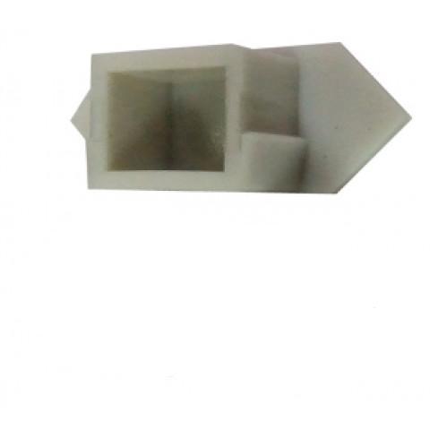 Торцевая заглушка 25*10мм угловая (1шт) Код.57804