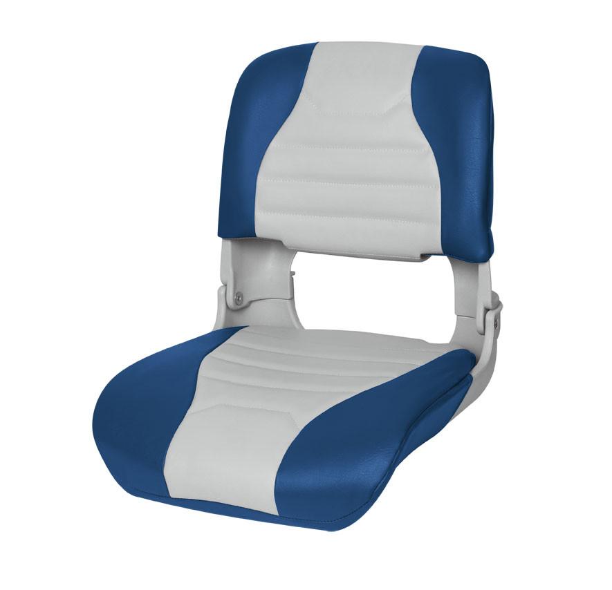 Сидіння для човни, катери пластикове складне ПРЕМІУМ 75145GB сіро/синє