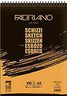Альбом для эскизов скетчбук А3 100л. 90г/м2 Fabriano Schizzi Sketch на спирали 56629742