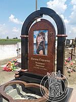 Памятник с фото на керамике  Прямоугольной № 3