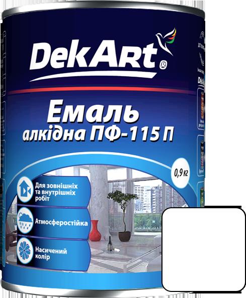 Емаль DekArt ПФ-115П білий (0.9 кг)