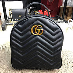 """Рюкзак Gucci GG Marmont Quilted Backpack """"Black"""""""