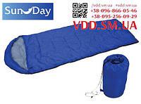 Спальний мішок-ковдра з капюшоном 190+30х75 см Sunday 73-015   спальник, одеяло