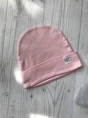 Шапочка трикотажна Рожева 0-3, 3-6 міс