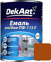 Емаль DekArt ПФ-115П жовто-коричнева (0.9 кг)