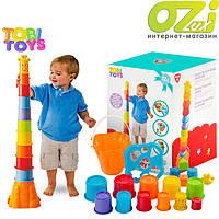 Пирамида + сортер Tobi Toys Жырафа 10 стаканчиков