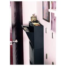 ТРОНЭС Галошница/комод для обуви на шуфл., черный, 51x39 см, 30110832 IKEA, ИКЕА, TRONES, фото 3