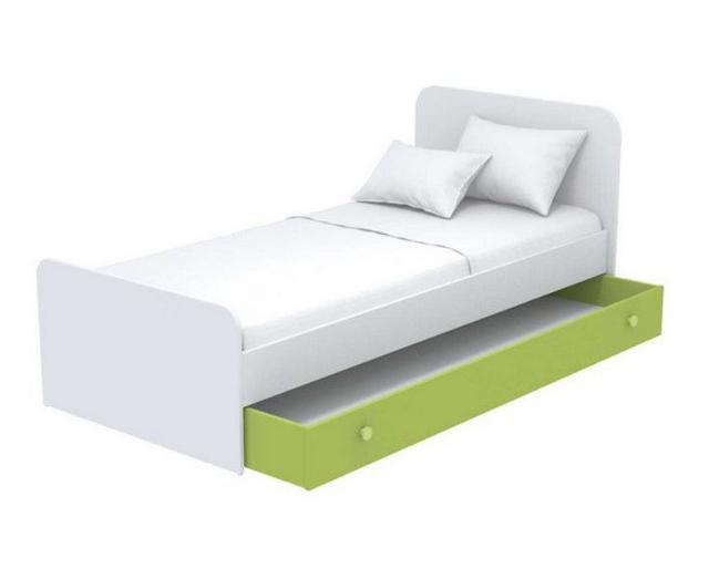 Кровать под матрас 900х1900 Кв-11-10 Акварели зеленые + ниша выдвижная Кв-13-10