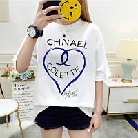 Женская свободная футболка Chnael Colette белая