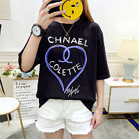 Жіноча вільна футболка Chnael Colette чорна