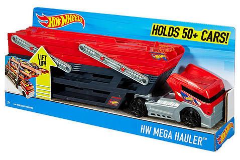 Хот Вилс Мега грузовик 50 машинок Трейлер автовоз Hot Wheels Mega Hauler Truck