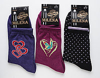 Хлопковые длинные женские носки Милена