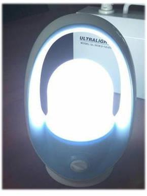 Светильник светодиодный аварийный аккумуляторный 8W ULTRALIGHT UL-6808, фото 2