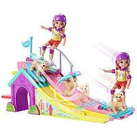 Набор кукла Челси и собачка в скейт-парке / Barbie Club Chelsea Flips and Fun Skate Ramp
