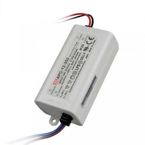 Драйвер для светодиодов Mean Well APC-12-350 12W; 350mA IP30 Код.59052