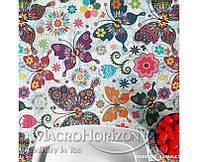 Скатерть с Акриловым покрытием Испания Цветные бабочки, арт.MG-142736