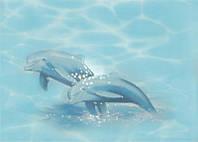 Декор ЛАЗУРЬ дельфин 2 25x35 бирюзовый