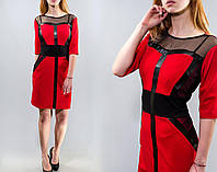 Шикарное женское платье ткань *Креп-Трикотаж* 52, 54 размер батал