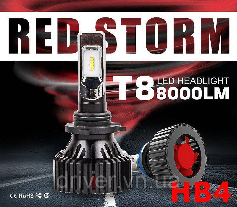 Лампочки LED HB4 (9006) T8 6500K / 8000Lm, 9-32V