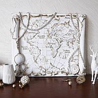 Барельеф Древняя карта мира КР 913 золото