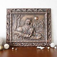 Картина рельефная Пара волков Гранд Презент КР 903 Медь