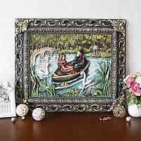 Картина панно Пара влюбленных в лодке КР 904 цветная