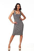 Летнее платье-майка вязаное. Модель П088_вязка черная., фото 1
