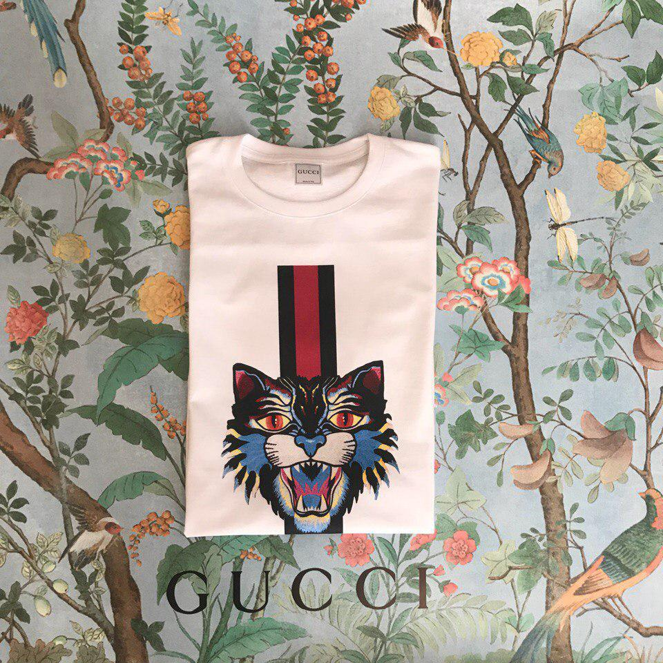 Футболка Gucci, кот