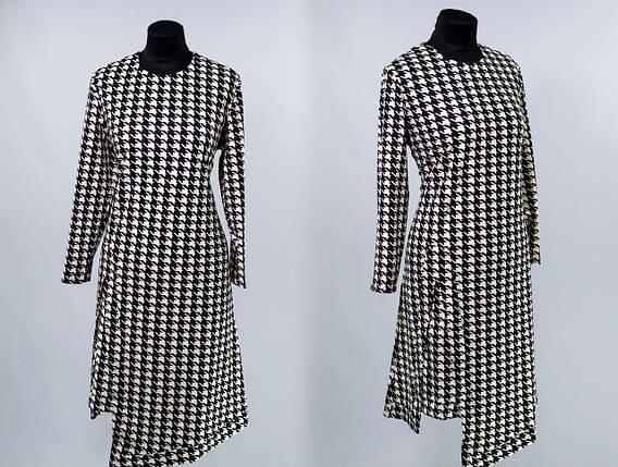 """Стильное женское платье асимметрия, ткань """"Французский трикотаж"""" 48, 52 размер батал, фото 2"""