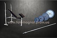 Скамья для жима универсальная с приставкой Скотта + Штанга 72 кг (жим лёжа)