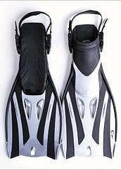 Ласты для подводного плаванья ныряния Дайвинга с открытой пяткой Размер 36-40 YF52 S/M