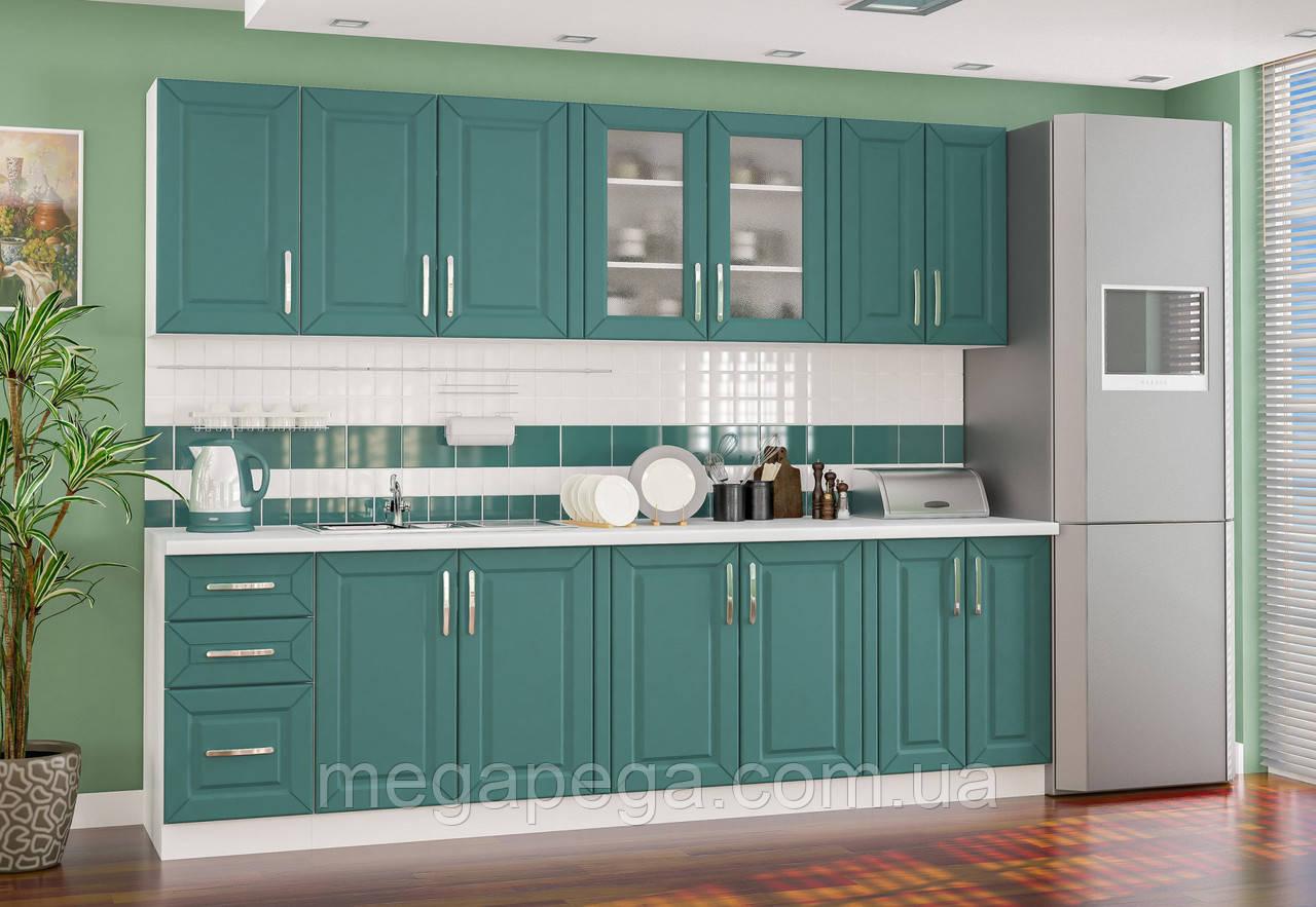 """Кухня """"Гамма"""" зеленый Мебель Сервис"""