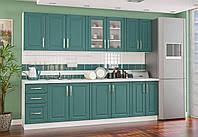 """Кухня """"Гамма"""" зеленый Мебель Сервис, фото 1"""