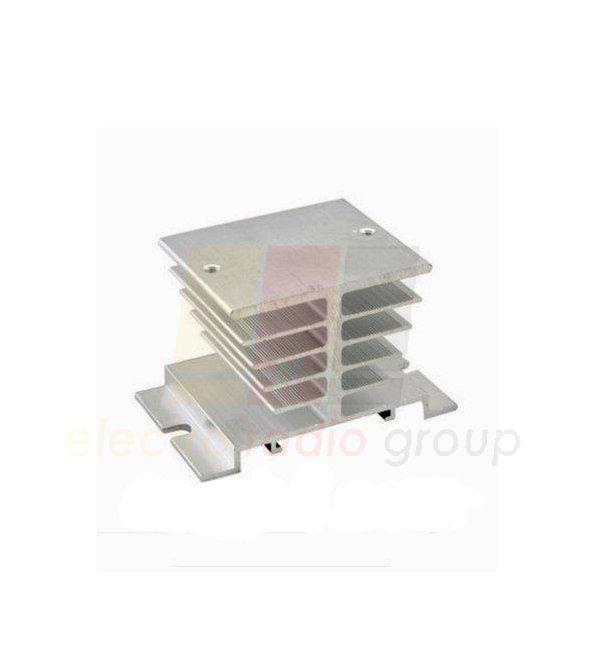 Радиатор для твердотельного реле  SSR10 - SSR40, 50x60x80 мм