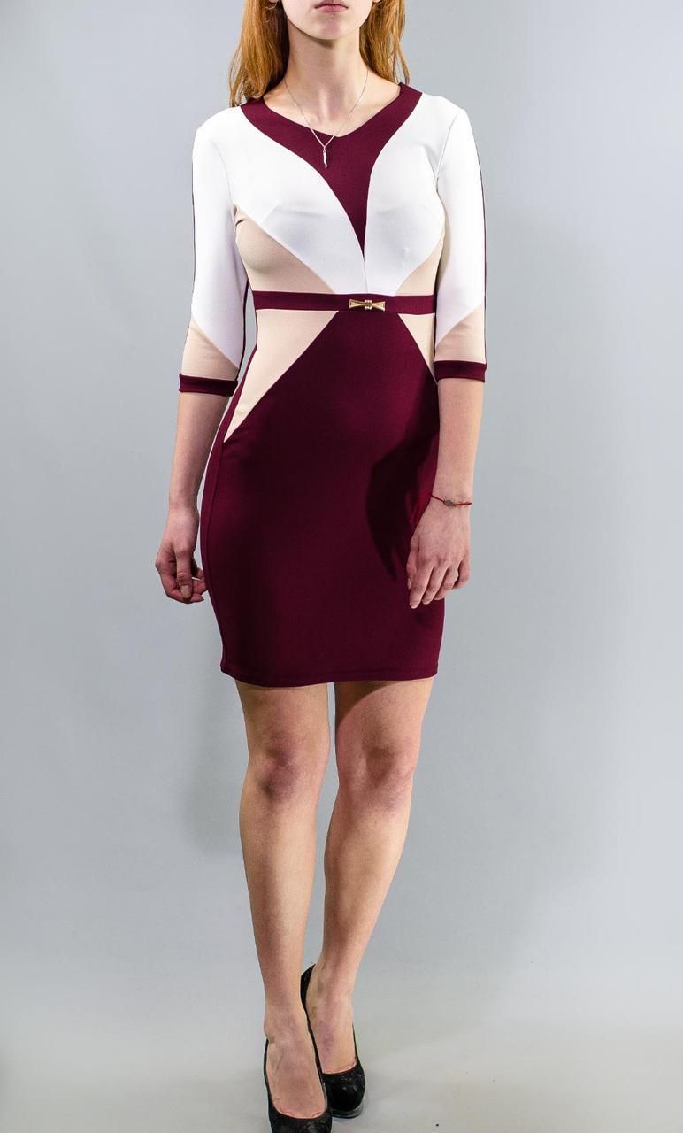"""Роскошное женское платье с геометрическими принтами, """"ткань креп-трикотаж"""" 44 размер норма"""
