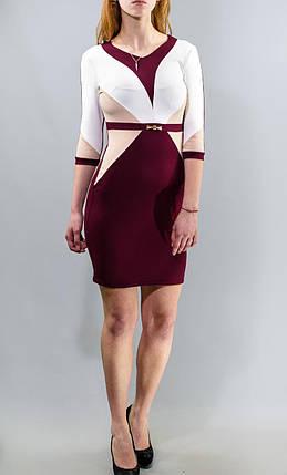"""Роскошное женское платье с геометрическими принтами, """"ткань креп-трикотаж"""" 44 размер норма, фото 2"""