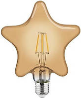 Лампа FILAMENT LED HOROZ ELECTRIC RUSTIC STAR-6 6W 2200K E27  540Lm 220-240V