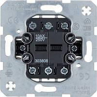 Вимикач 2-клавішний універсальний 10АХ/250В