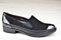 Туфли, мокасины женские популярные черные стильные, практичные (Код: 1093)