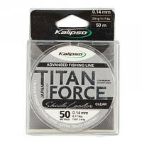 Леска Kalipso Titan Force Leader CL 50м 0.14мм (1шт)