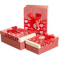 Набор подарочных коробок 3 шт. Сладкая любовь 0653J /red