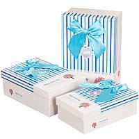 Набор подарочных коробок 3 шт. Веселый день 0658J/ blue