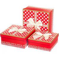 Набор подарочных коробок 3 шт. Женственность 0661J /red